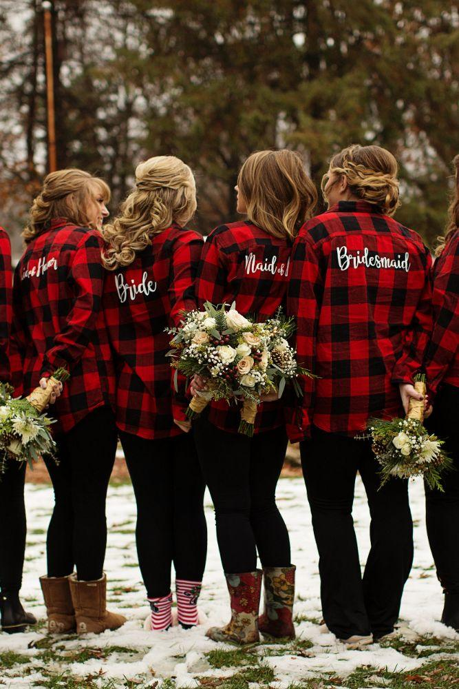 meaghann travis cog hill golf & country club chicago, il wedding bride bridesmaids personalized flannels