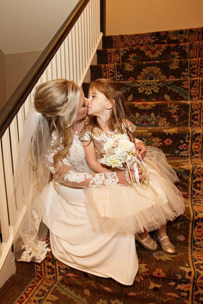 meaghann travis cog hill golf & country club chicago, il wedding bride and flower girl