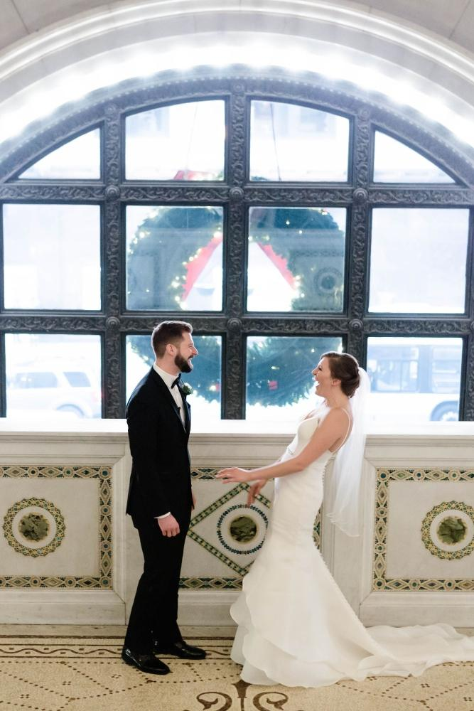 emily nick artifact events chicago, il wedding first look bride and groom