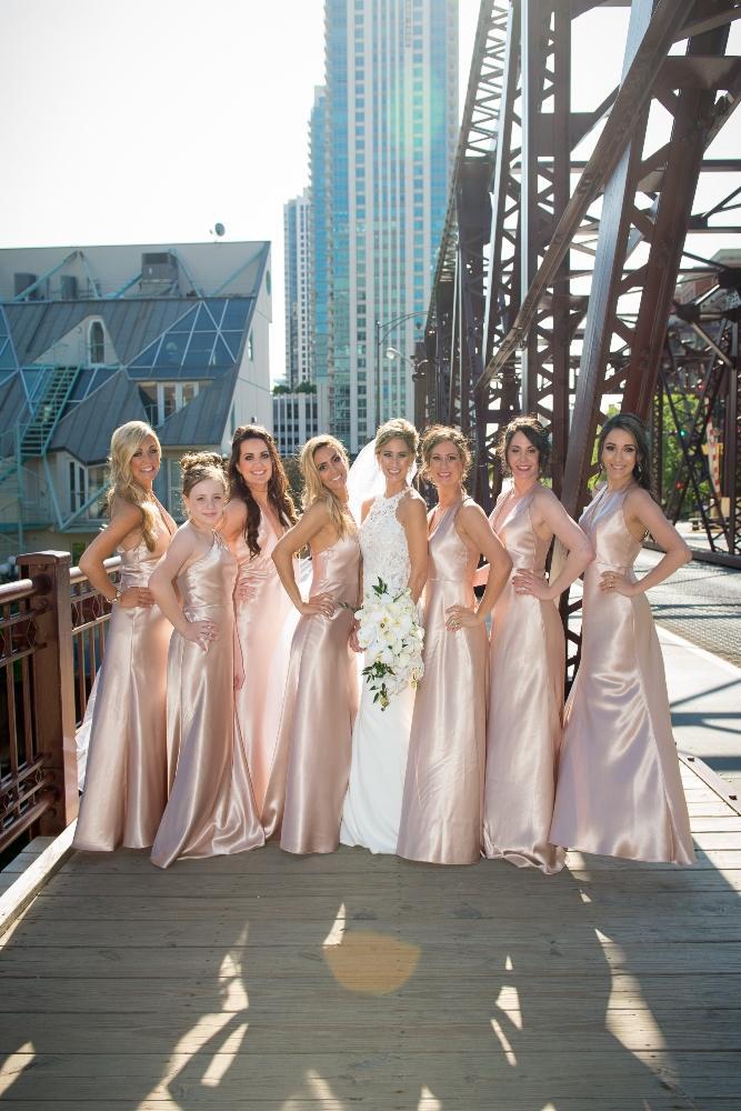 jana matt gibsons steakhouse chicago, il wedding bridesmaids