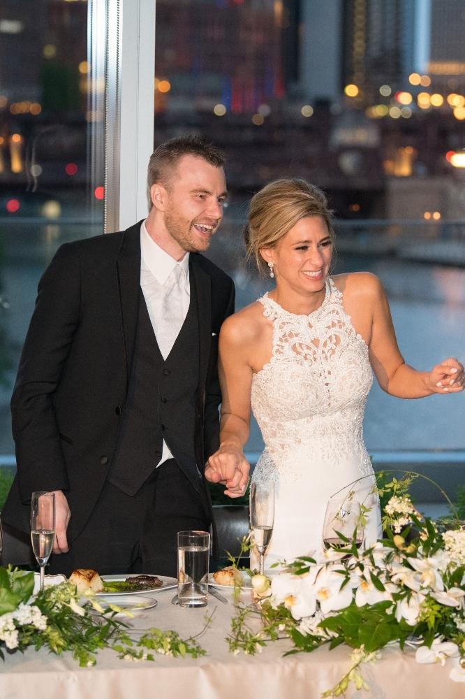 jana matt gibsons steakhouse chicago, il wedding toasts