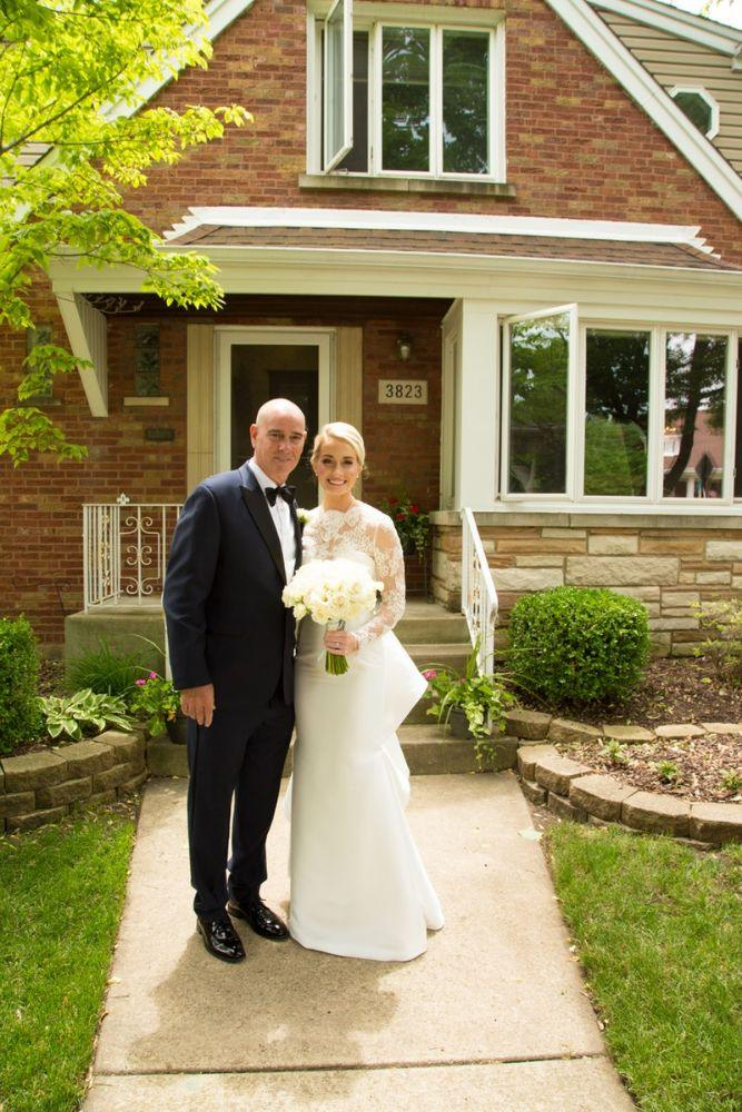 kelly nick local love the beverly country club chicago, il wedding bride with dad