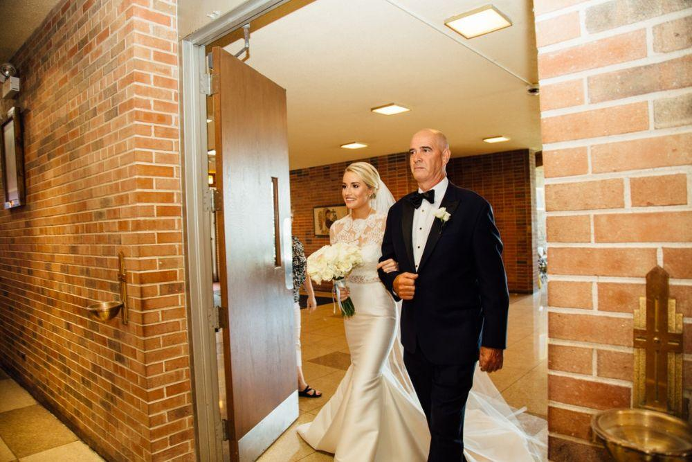 kelly nick local love the beverly country club chicago, il wedding father daughter walking down aisle