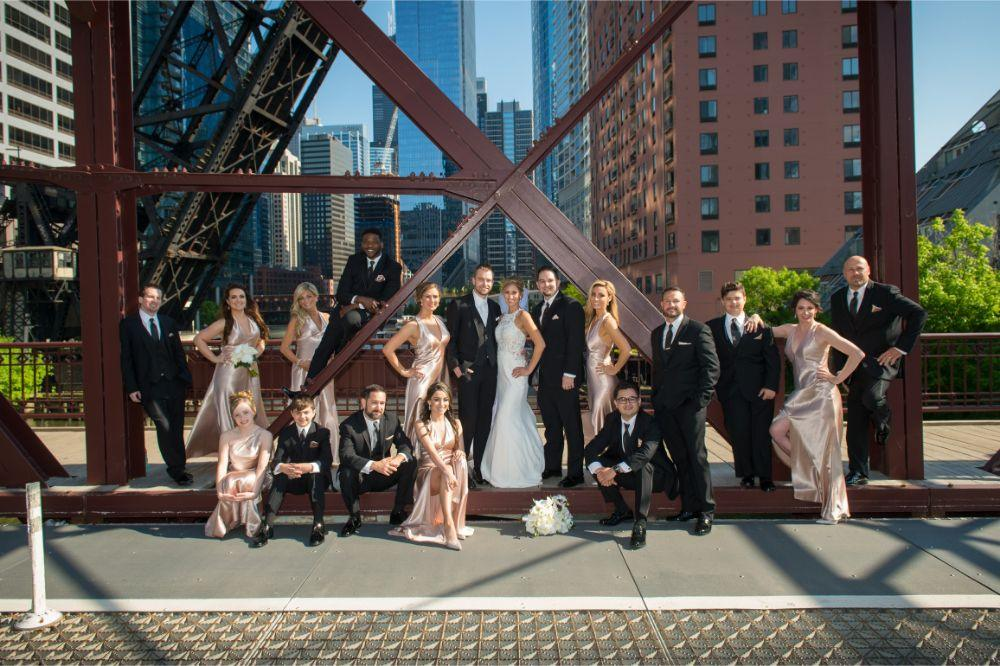 jana matt gibsons steakhouse chicago, il wedding wedding party