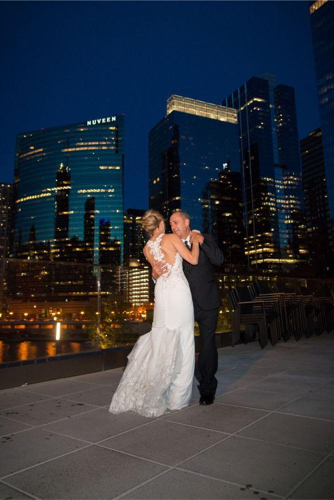 jana matt gibsons steakhouse chicago, il wedding bride and dad dance