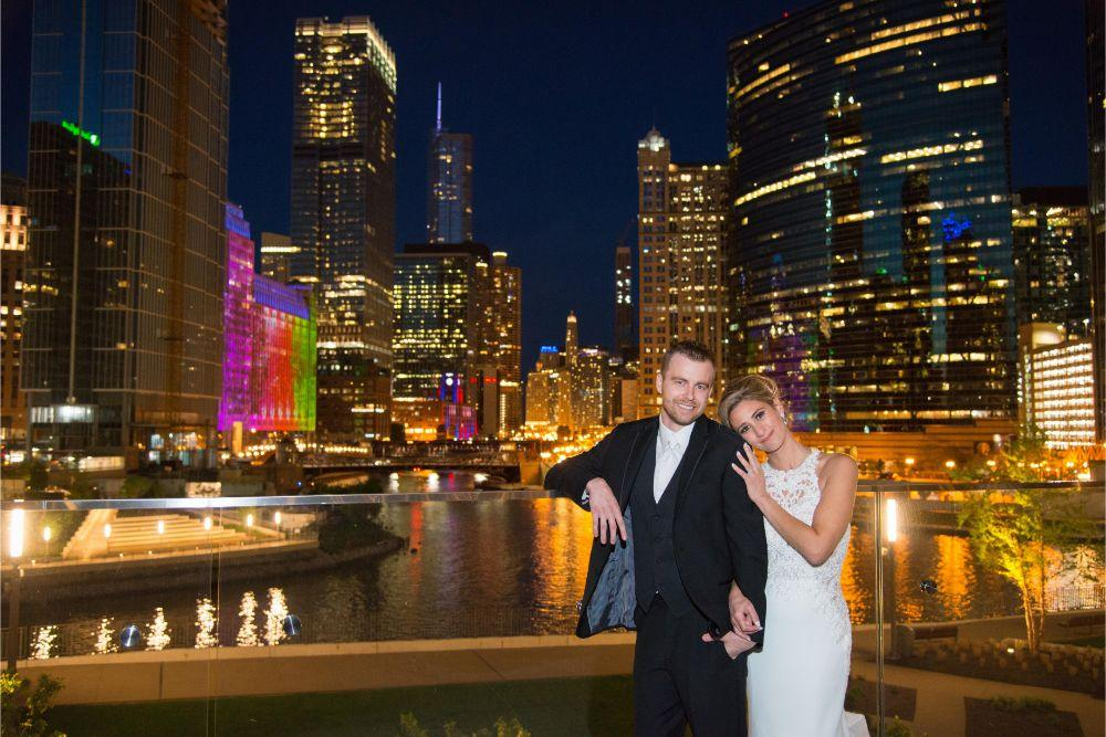 jana matt gibsons steakhouse chicago, il wedding bride and groom