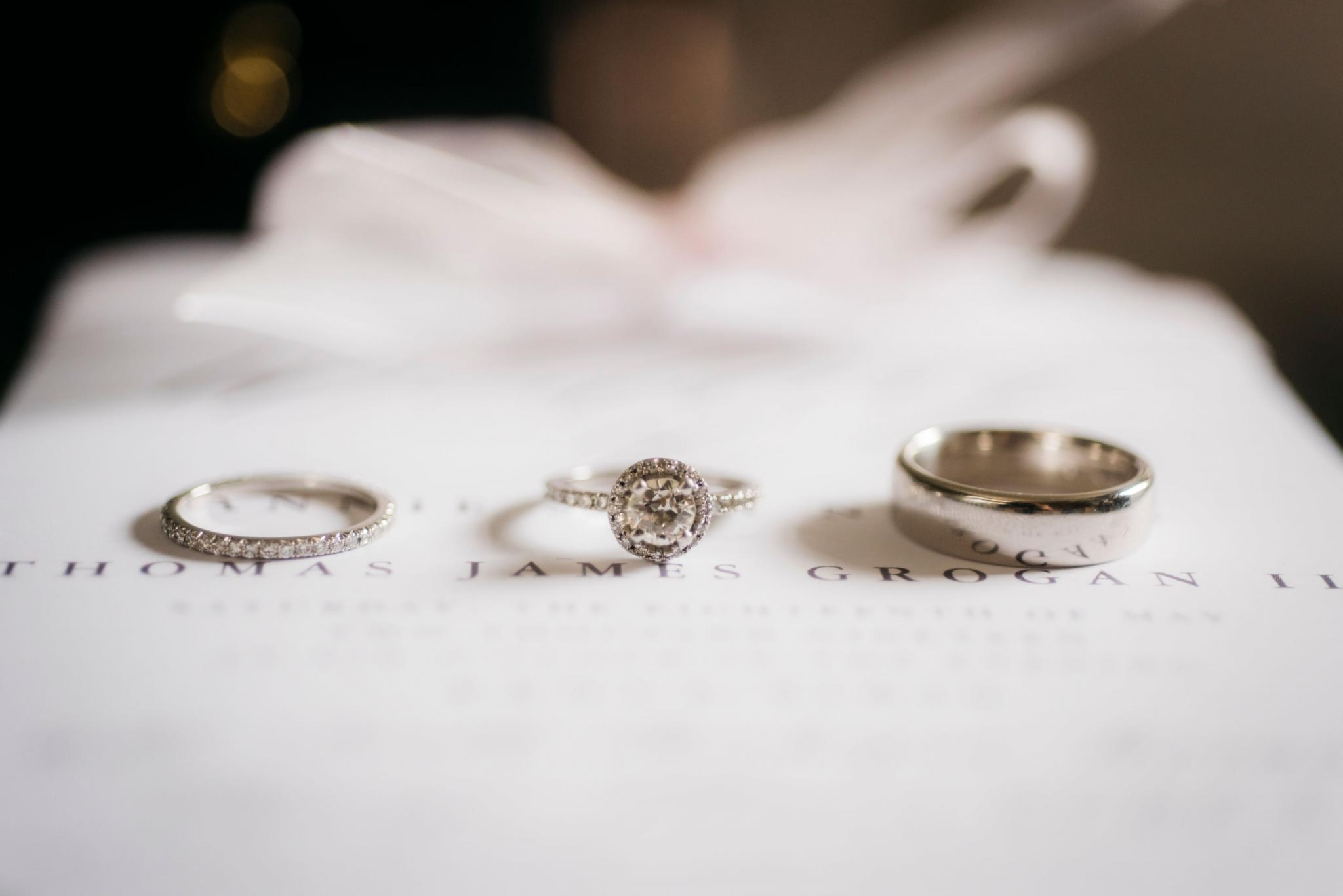 annie tommy venue SIX10 chicago, il wedding rings