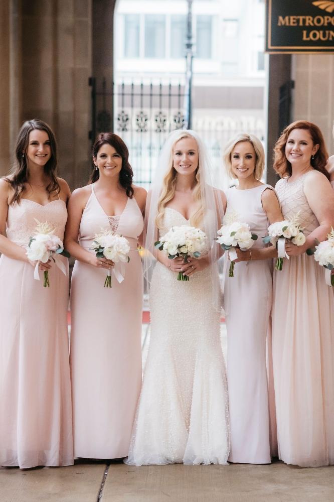 annie tommy venue SIX10 chicago, il wedding bridesmaids