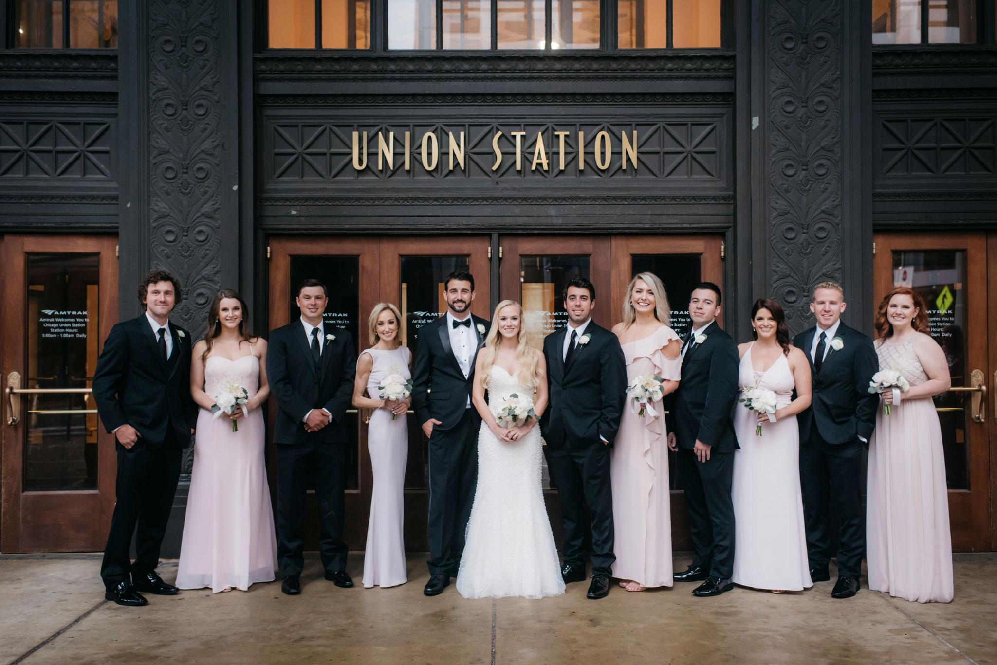 annie tommy venue SIX10 chicago, il wedding wedding party