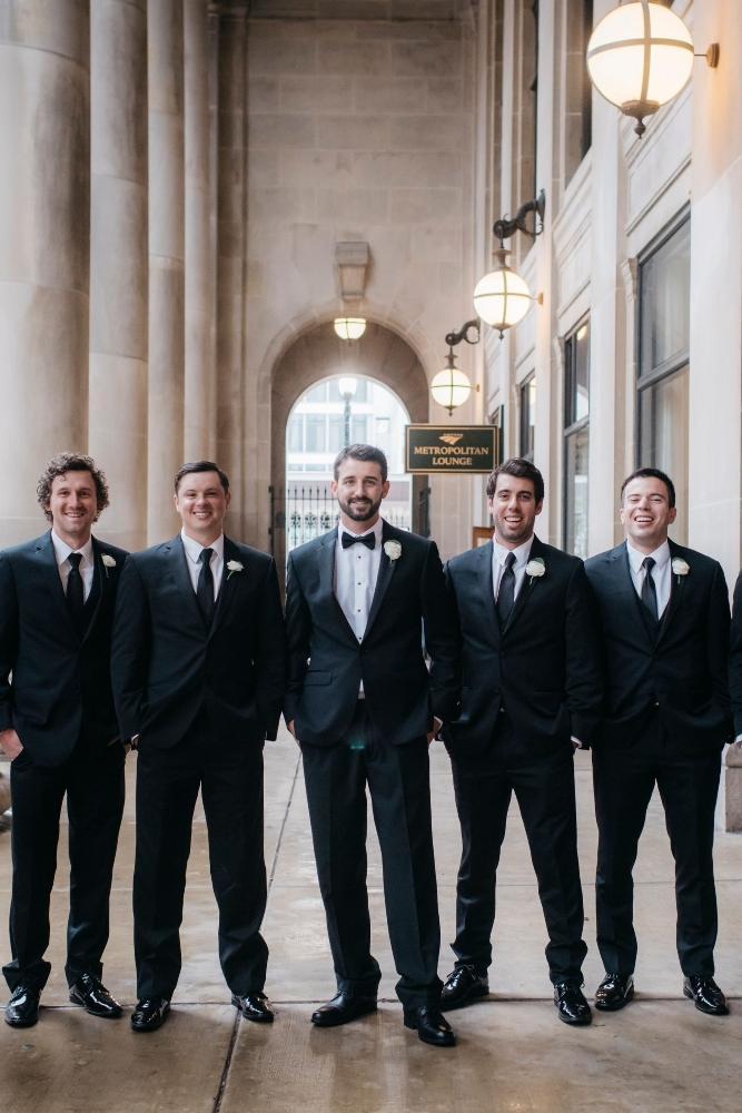 annie tommy venue SIX10 chicago, il wedding groomsmen