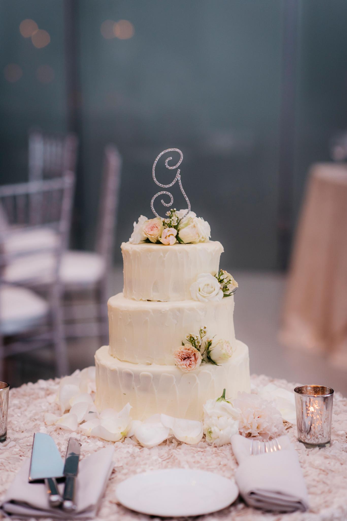 annie tommy venue SIX10 chicago, il wedding cake