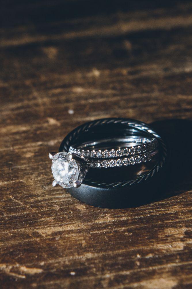 kelly alex local love skyline loft chicago, il wedding rings