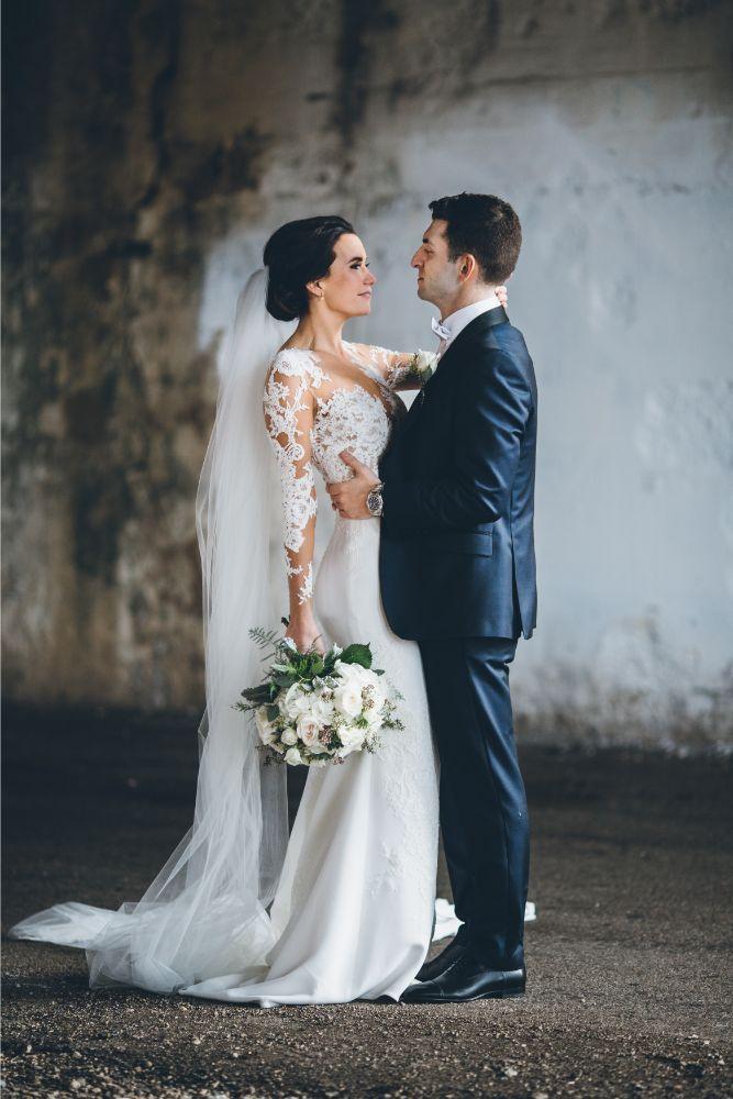 kelly alex local love skyline loft chicago, il wedding bride and groom portrait