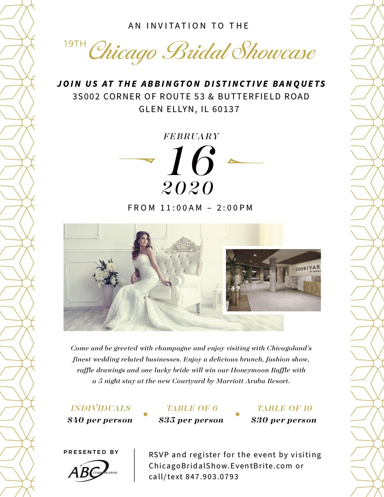 Abbington Distinctive Banquets | Chicago Bridal Show 2020