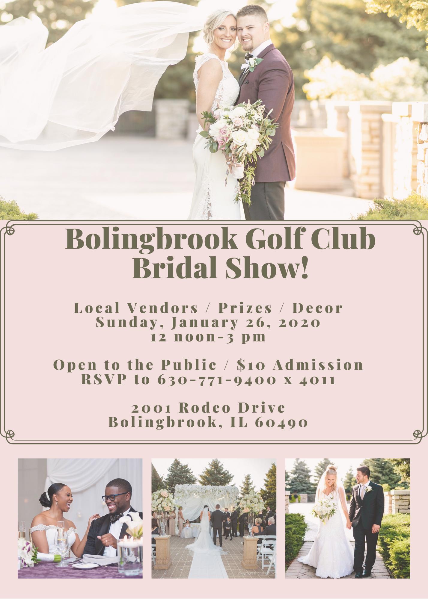 Bolingbrook Golf Club Bridal Show - january 2020