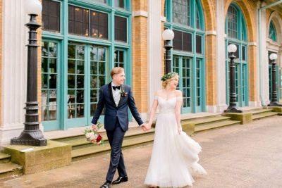 jenn and nick columbus park refectory chicago, il bride groom portrait