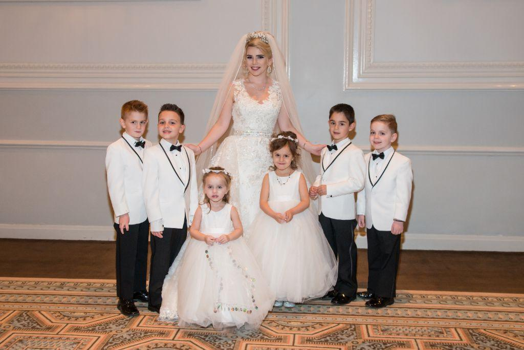 flower girls ring bearers and bride halisa sead local love drury lane theatre chicago, il