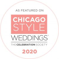 2020 Chicago Style Weddings Badge - Featured on