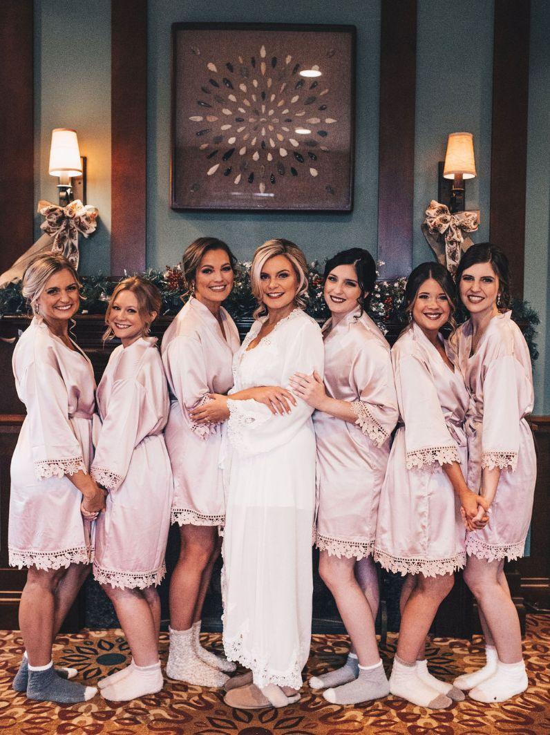 emily matt local love arrowhead golf club chicago, il wedding getting ready bride and bridesmaids