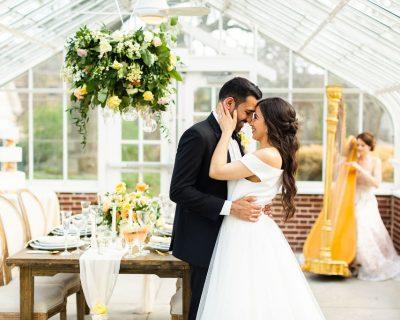 Summer Yellow Greenhouse Wedding Inspiration