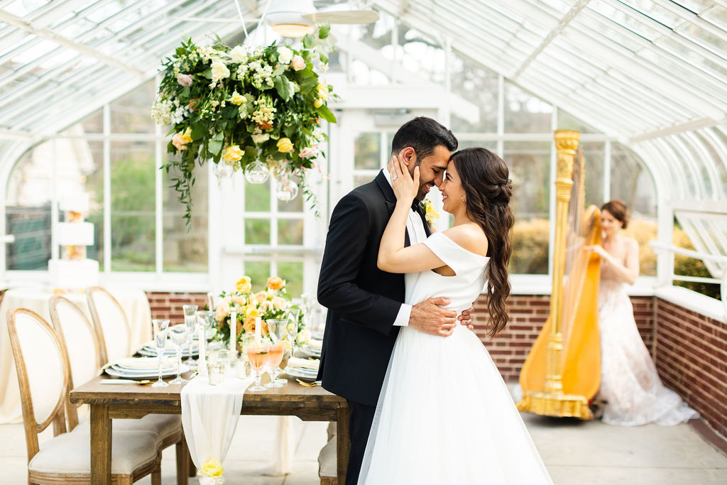 Summer Yellow Greenhouse Wedding Inspiration