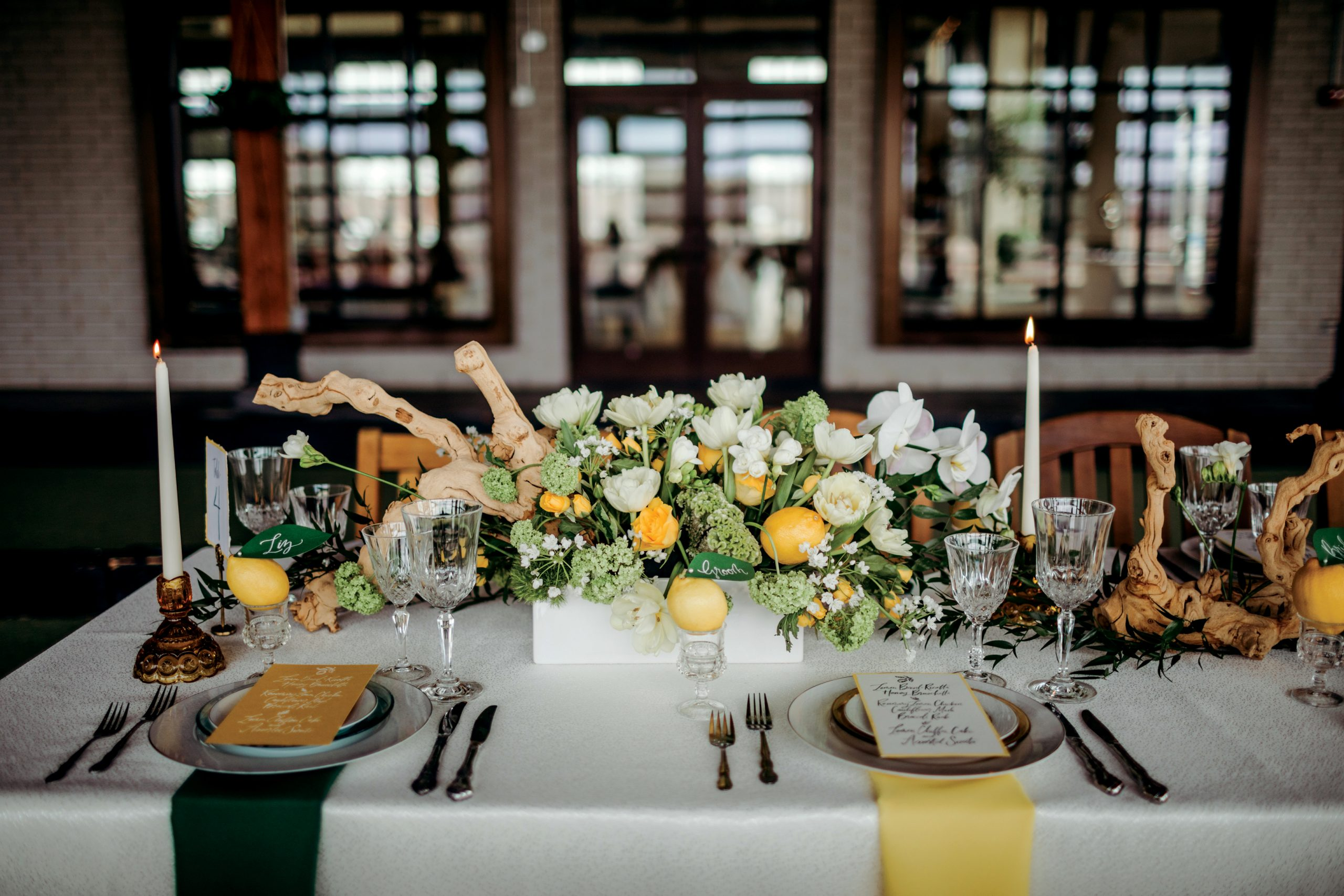 Fresh Rustic Romance | Citrus Wedding Inspiration | Designers Challenge