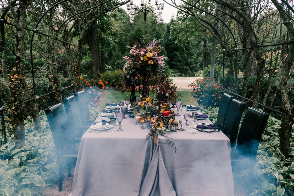 Victorian Gothic Halloween Wedding Inspiration