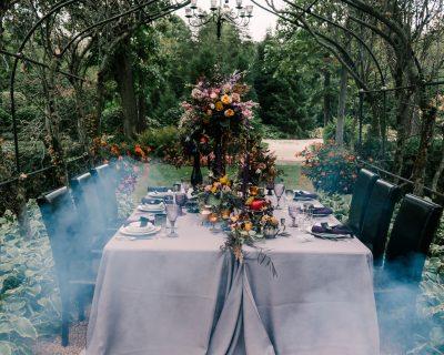 Victorian Gothic Halloween Wedding Inspiration