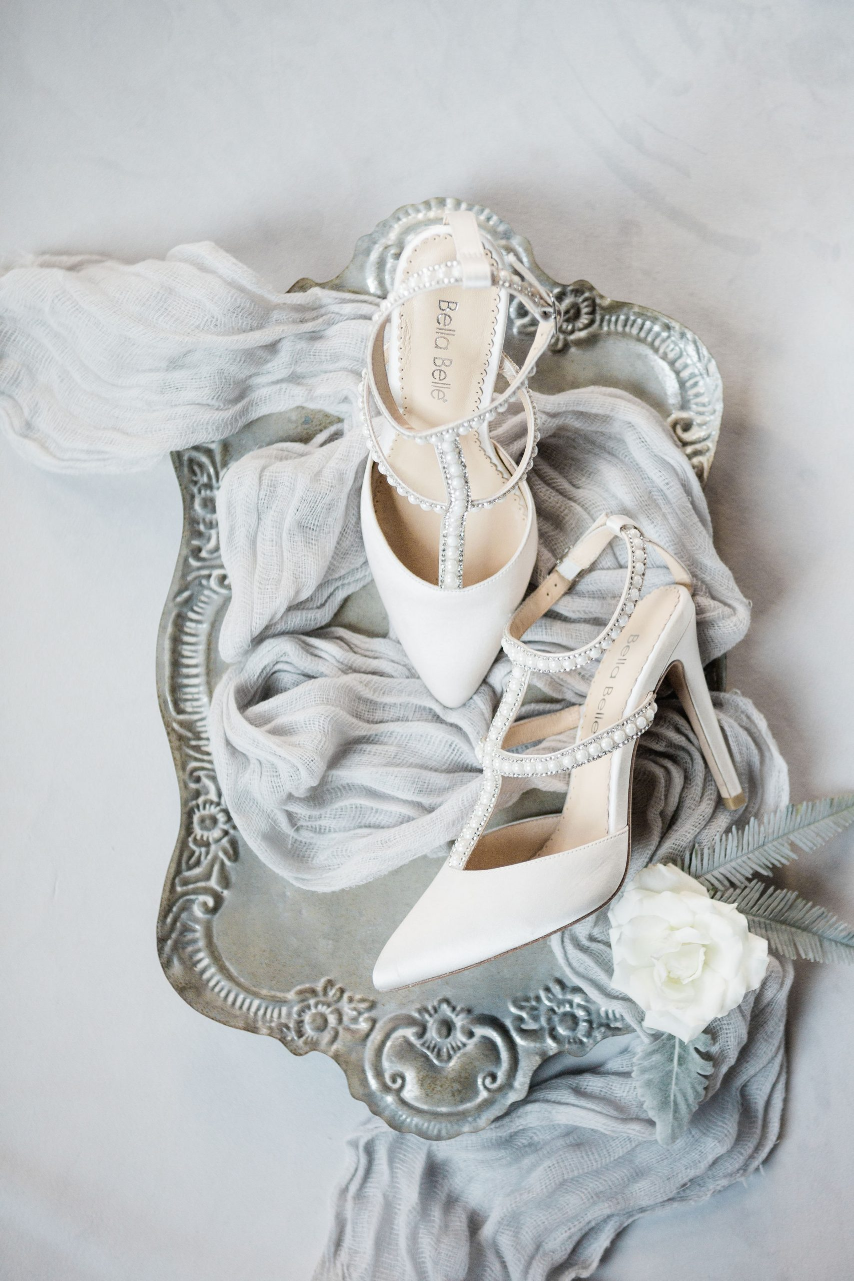 Romantic Grey Industrial Wedding | The Industria by The Brix, Elgin, IL | Bella Belle Shoes