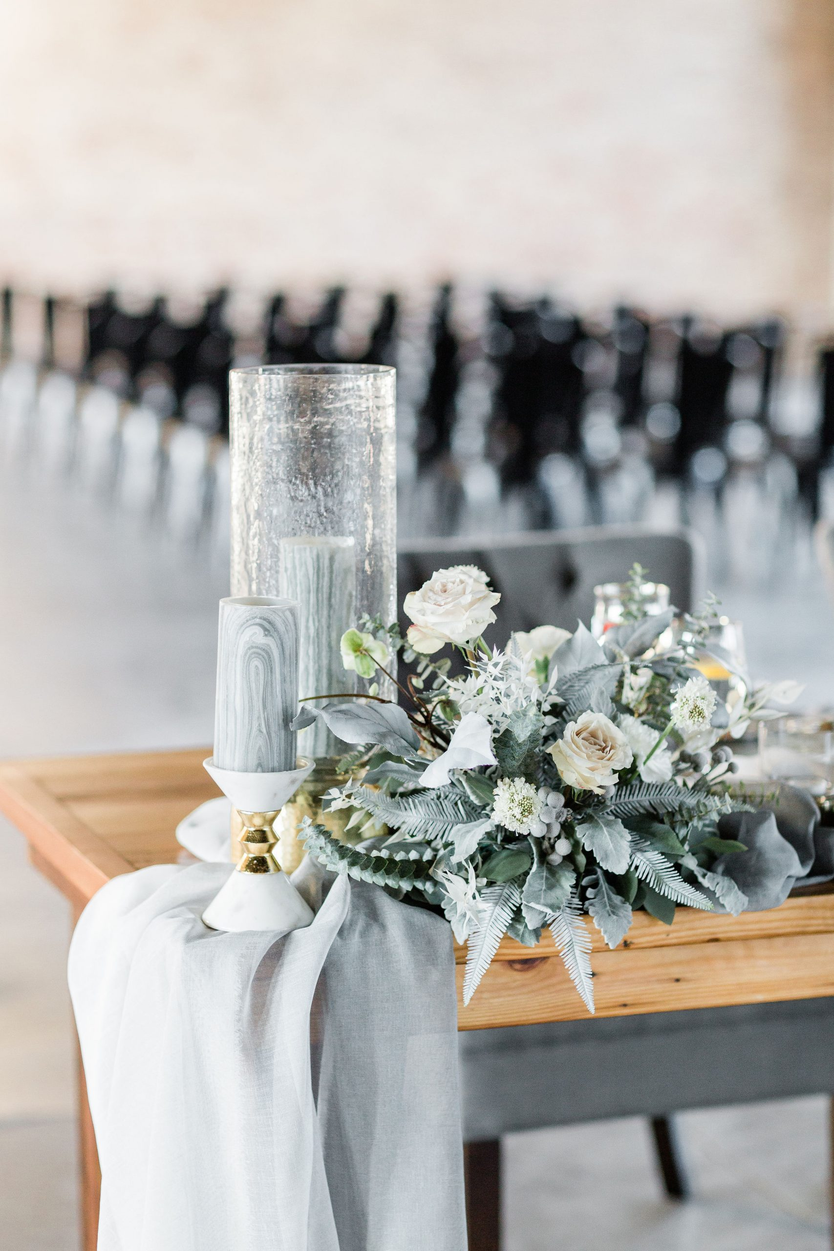 Romantic Grey Industrial Wedding | The Industria by The Brix, Elgin, IL