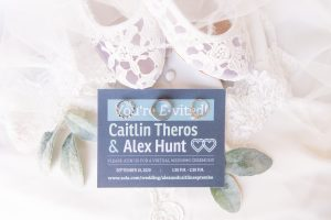 Covid-19 at home wedding | intimate ceremony | pandemic wedding | invitation