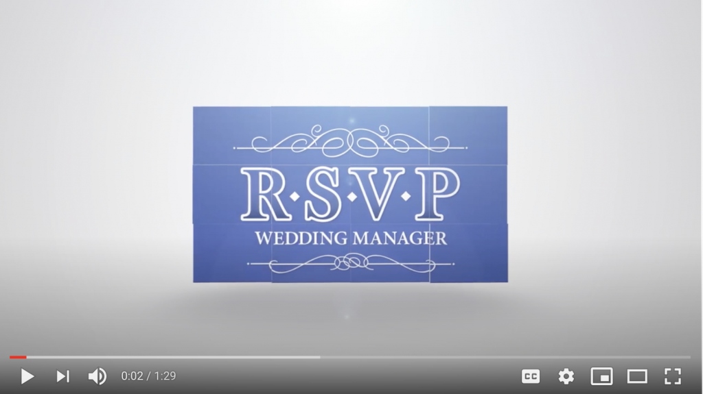 Video Of RSVP Wedding Manager