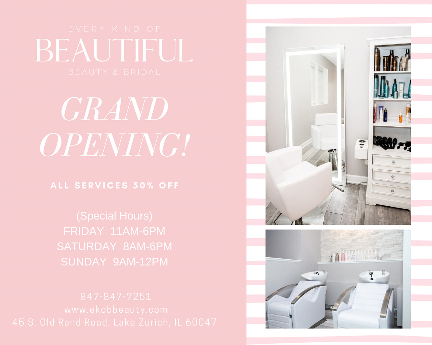 every kind of beautiful grand opening