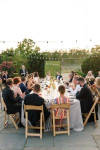 al fresco dining   al fresco reception   modern wedding   garfield park conservatory