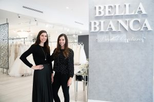 Melissa & Natalie at Bella Bianca Bridal Couture | Chicago Bridal Boutique